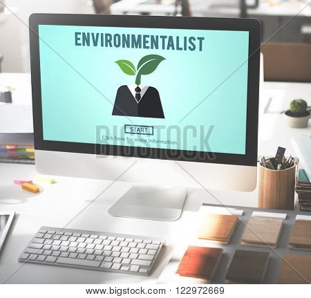 Environmentalist Ecologist Nature Conservationist Concept