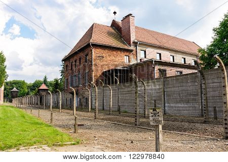 Auschwitz I - Birkenau theater building served as a warehouse for prisoners' confiscated belongings and also a storage site for Zyklon B.