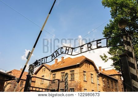Auschwitz I - Birkenau; from the reception building prisoners would proceed through the