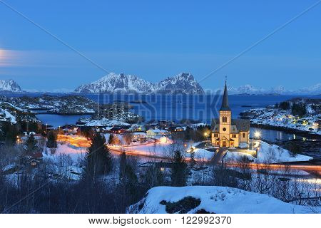 Vagan Church Lofotkatedralen, in Nordland County, Norway