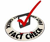 Fact Check Verify Accurate Information Box Mark 3d Words poster