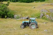 abandoned machinery tractor old broken farm dozer machinery equipment poster