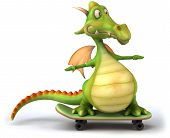 Fun dragon, 3d character, 3d generated picture poster