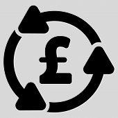 Pound Circulation vector icon. Pound Circulation icon symbol. Pound Circulation icon image. Pound Circulation icon picture. Pound Circulation pictogram. Flat pound circulation icon. poster