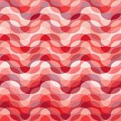 Seamless abstract red wave texture. Suitable for fashion material paint poster