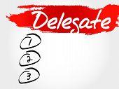 Delegate blank list business concept, presentation background poster