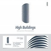Real Estate Business sign & Business Card vector template for architecture bureau home insurance brokerage building & renovation business. Business graphics. Corporate web site element. Sample text poster