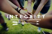 Integrity Fairness Honesty Loyalty Moral Motivation Concept poster