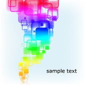 Abstract multicolored rounded squares background. Vector eps10 illustration poster