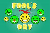Smile Faces Fool Day April Holiday Greeting Card Vector Illustration poster