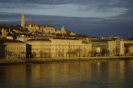 Buda Hill With Fishermen's Bastion And Danube River