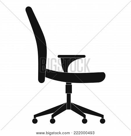 Soft chair icon. Simple illustration ofsoft chair vector icon for web.