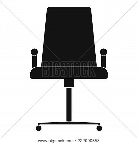 School chair icon. Simple illustration of school chair vector icon for web.