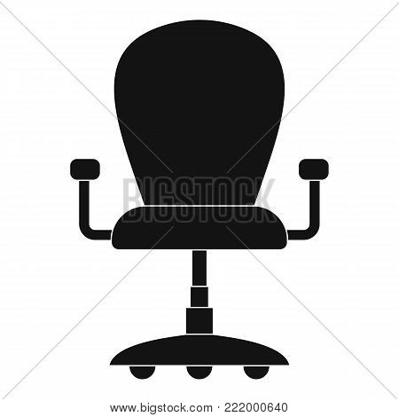 Leather armchair icon. Simple illustration of leather armchair vector icon for web.