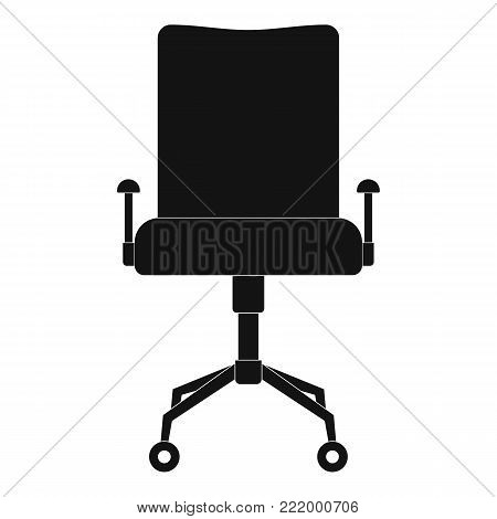 Leather chair icon. Simple illustration of leather chair vector icon for web.