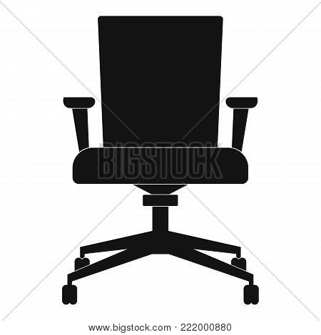 Computer armchair icon. Simple illustration of computer armchair vector icon for web.