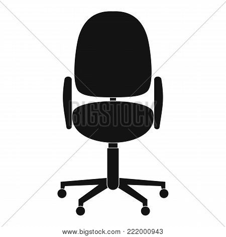 Work chair icon. Simple illustration of work chair vector icon for web.