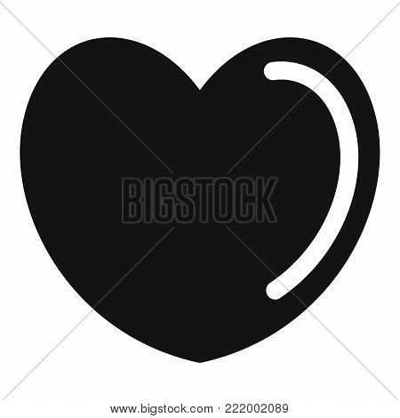 Poisoned heart icon. Simple illustration of poisoned heart vector icon for web.