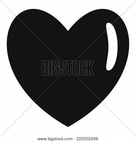 Warm human heart icon. Simple illustration of warm human heart vector icon for web.