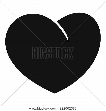 Angelic heart icon. Simple illustration of angelic heart vector icon for web.
