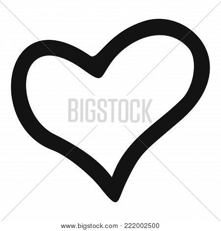 Faithful heart icon. Simple illustration of faithful heart vector icon for web.