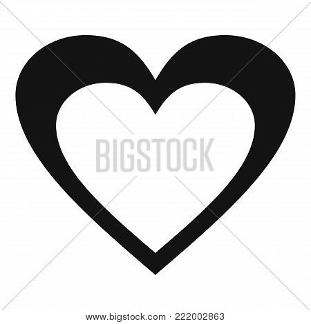 Huge heart icon. Simple illustration of huge heart vector icon for web.