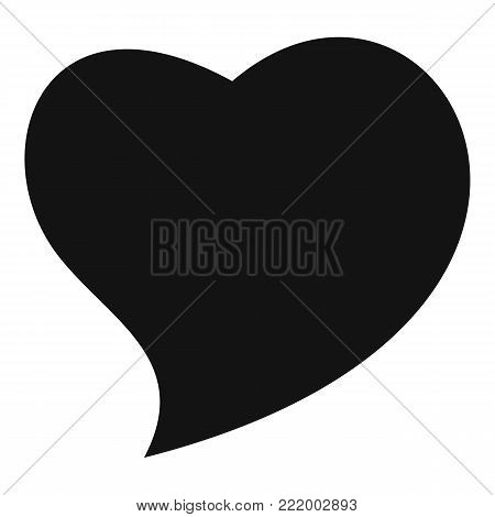 Brave heart icon. Simple illustration of brave heart vector icon for web.