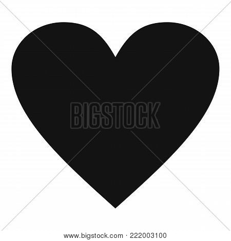 Dull heart icon. Simple illustration of dull heart vector icon for web.
