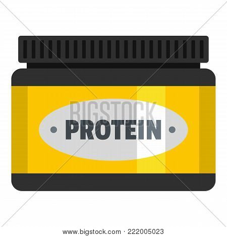 Protein packing icon. Flat illustration of protein packing vector icon for web.