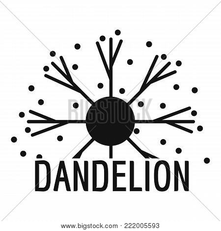 Dandelion logo icon. Simple illustration of dandelion vector icon for web