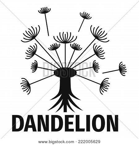 Spring dandelion logo icon. Simple illustration of spring dandelion vector icon for web.