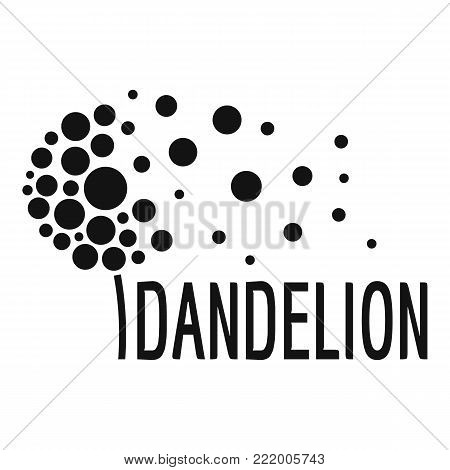 Beautiful dandelion logo icon. Simple illustration of beautiful dandelion vector icon for web.