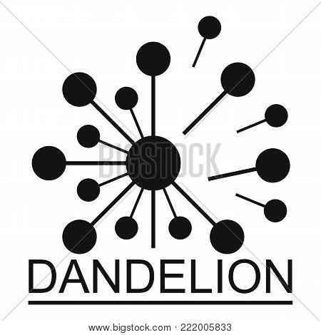 Meadow dandelion logo icon. Simple illustration of meadow dandelion vector icon for web.