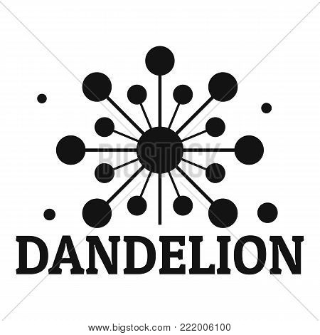 Growing dandelion logo icon. Simple illustration of growing dandelion vector icon for web.