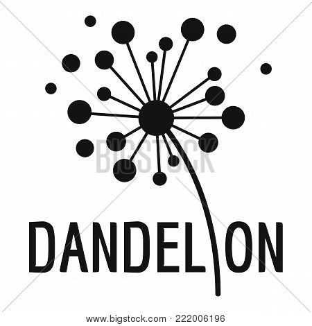 Dried dandelion logo icon. Simple illustration of dried dandelion vector icon for web.