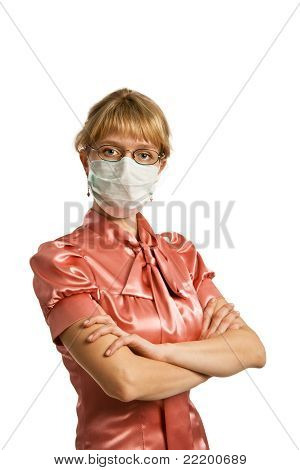 The Woman In Medical Mask