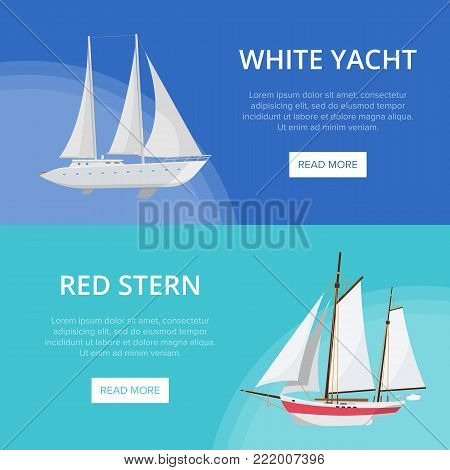 World yachting poster with luxury nautical sailboats. Vintage marine cruise ship, passenger vessel transportation vector illustration. Outdoor sailing and sea traveling, worldwide ocean regatta race.