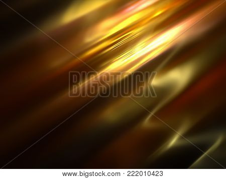 Shine Gold Brocade Tissue Background with Folds