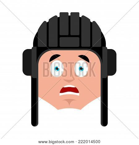 Tankman scared OMG emoji. Russian soldier Oh my God emotion avatar. Tankman Military in Russia Frightened. Illustration for 23 February. Defender of Fatherland Day. Army holiday for Russian Federation