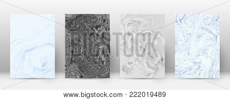 Abstract Cover. Modern Design Template. Actual Suminagashi Marble. Minimalistic Hipster Flyer Design