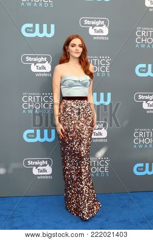 LOS ANGELES - JAN 11:  Madeline Brewer at the 23rd Annual Critics' Choice Awards at Barker Hanger on January 11, 2018 in Santa Monica, CA