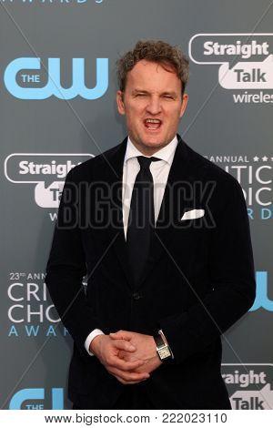 LOS ANGELES - JAN 11:  Jason Clarke at the 23rd Annual Critics' Choice Awards at Barker Hanger on January 11, 2018 in Santa Monica, CA