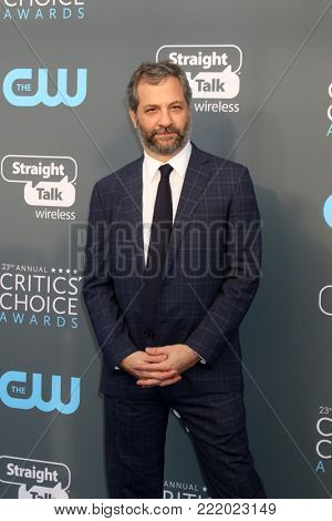 LOS ANGELES - JAN 11:  Judd Apatow at the 23rd Annual Critics' Choice Awards at Barker Hanger on January 11, 2018 in Santa Monica, CA