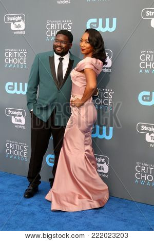 LOS ANGELES - JAN 11:  Guest, Betty Gabriel at the 23rd Annual Critics' Choice Awards at Barker Hanger on January 11, 2018 in Santa Monica, CA