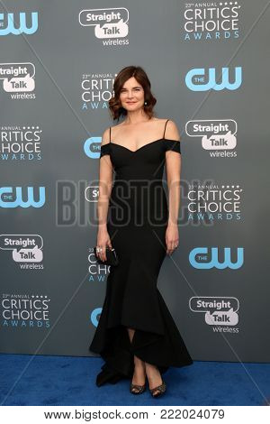 LOS ANGELES - JAN 11:  Betsy Brandt at the 23rd Annual Critics' Choice Awards at Barker Hanger on January 11, 2018 in Santa Monica, CA