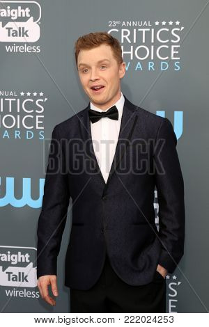 LOS ANGELES - JAN 11:  Noel Fisher at the 23rd Annual Critics' Choice Awards at Barker Hanger on January 11, 2018 in Santa Monica, CA