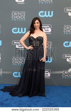 LOS ANGELES - JAN 11:  Olivia Sandoval at the 23rd Annual Critics' Choice Awards at Barker Hanger on January 11, 2018 in Santa Monica, CA