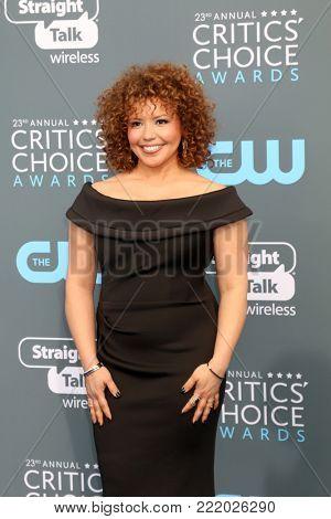 LOS ANGELES - JAN 11:  Justina Machado at the 23rd Annual Critics' Choice Awards at Barker Hanger on January 11, 2018 in Santa Monica, CA