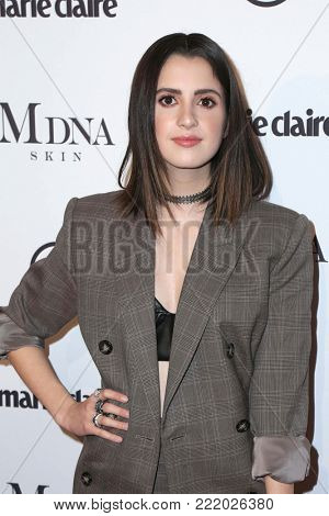 LOS ANGELES - JAN 11:  Laura Marano at the Marie Claire Image Makers Awards 2018 at the Delilah on January 11, 2018 in West Hollywood, CA