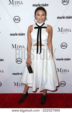 LOS ANGELES - JAN 11:  Jeannie Mai at the Marie Claire Image Makers Awards 2018 at the Delilah on January 11, 2018 in West Hollywood, CA